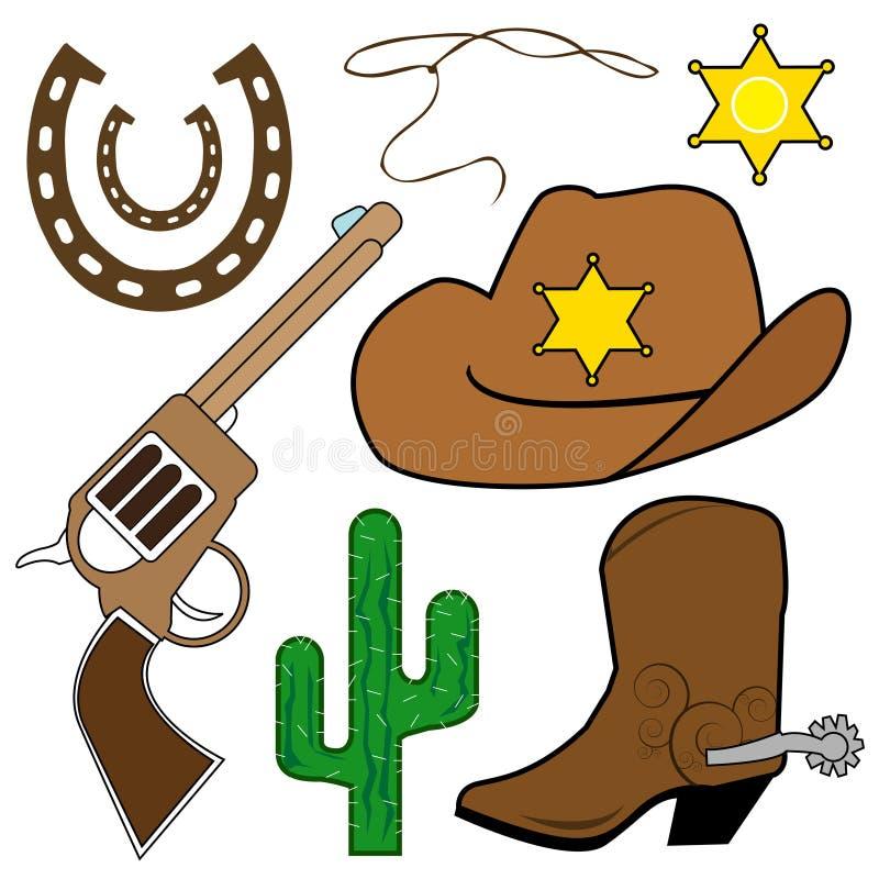 Cowboy design elements vector illustration