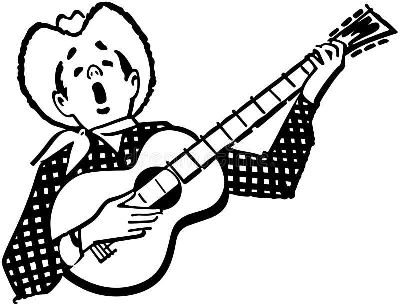 Cowboy di canto illustrazione vettoriale