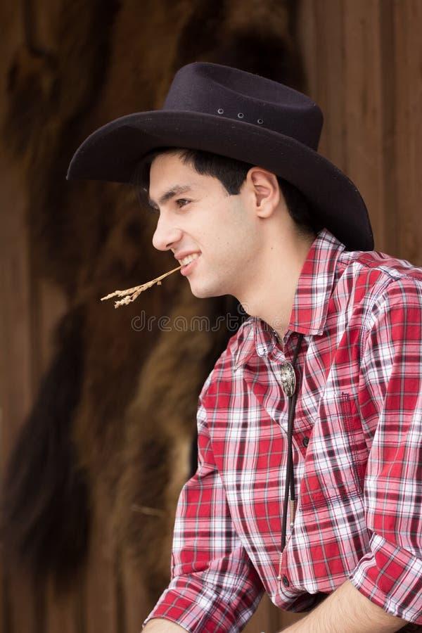 Cowboy die rust hebben royalty-vrije stock foto's