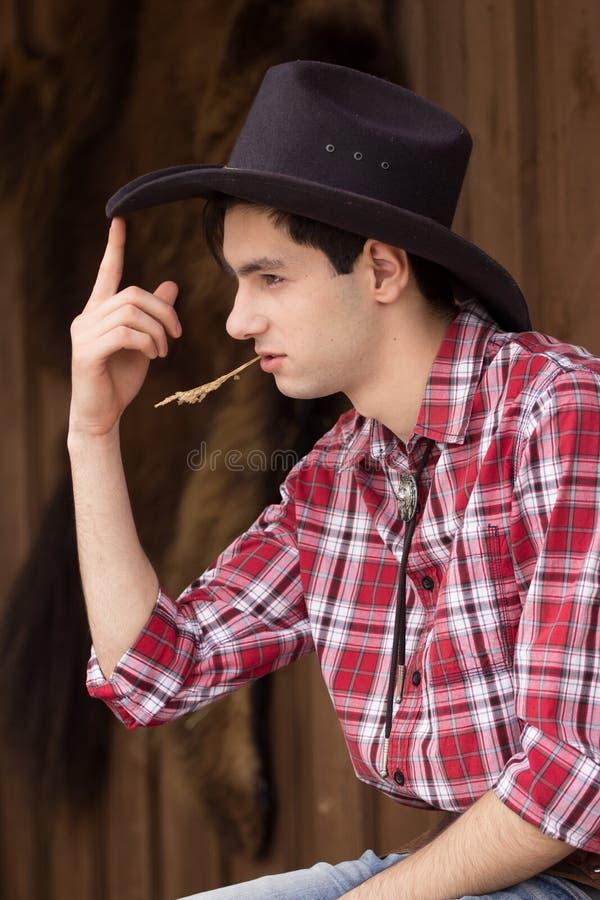 Cowboy die rust hebben stock afbeelding