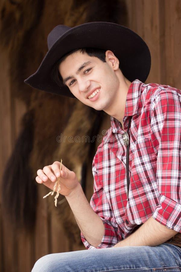 Cowboy die rust hebben stock afbeeldingen
