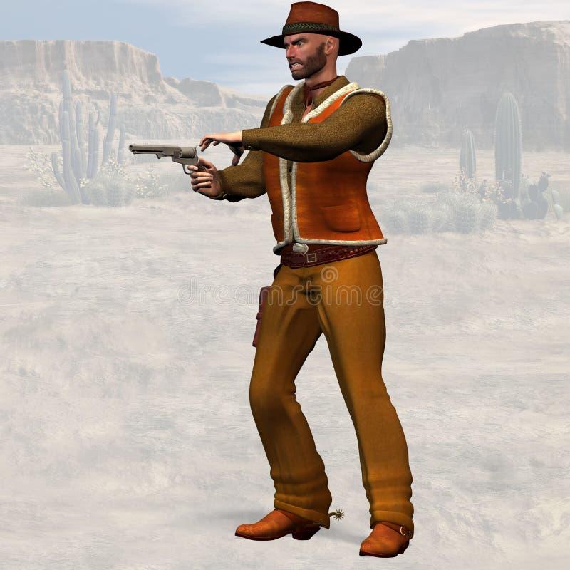 Cowboy difettoso illustrazione di stock