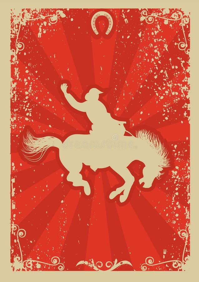 Cowboy do rodeio. ilustração royalty free