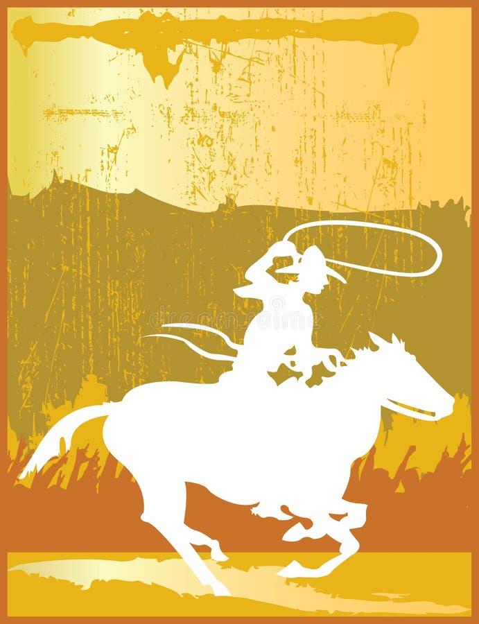 cowboy dorato illustrazione vettoriale