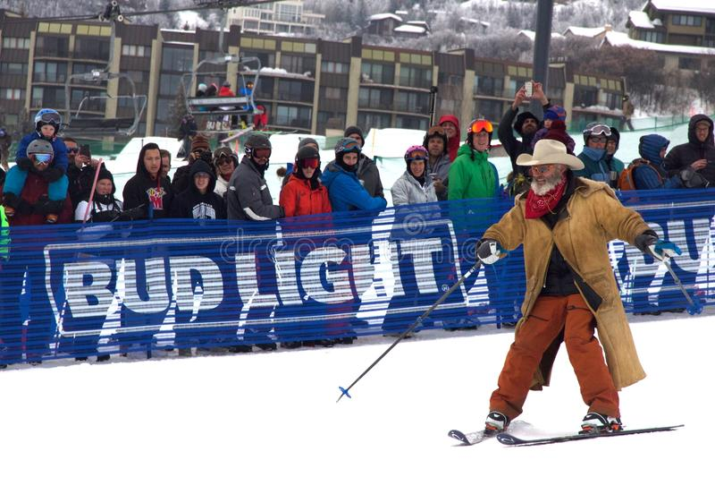 Cowboy Downhill Stampede images libres de droits
