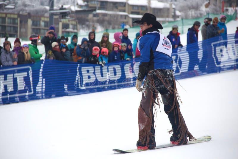 Cowboy Downhill Stampede image libre de droits