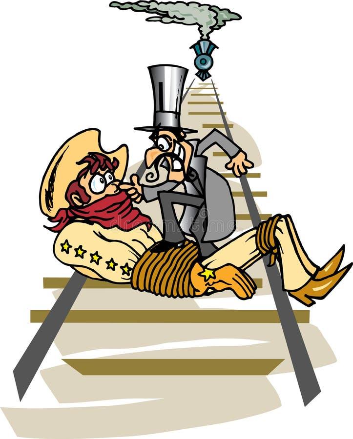 Cowboy e bandido ilustração do vetor