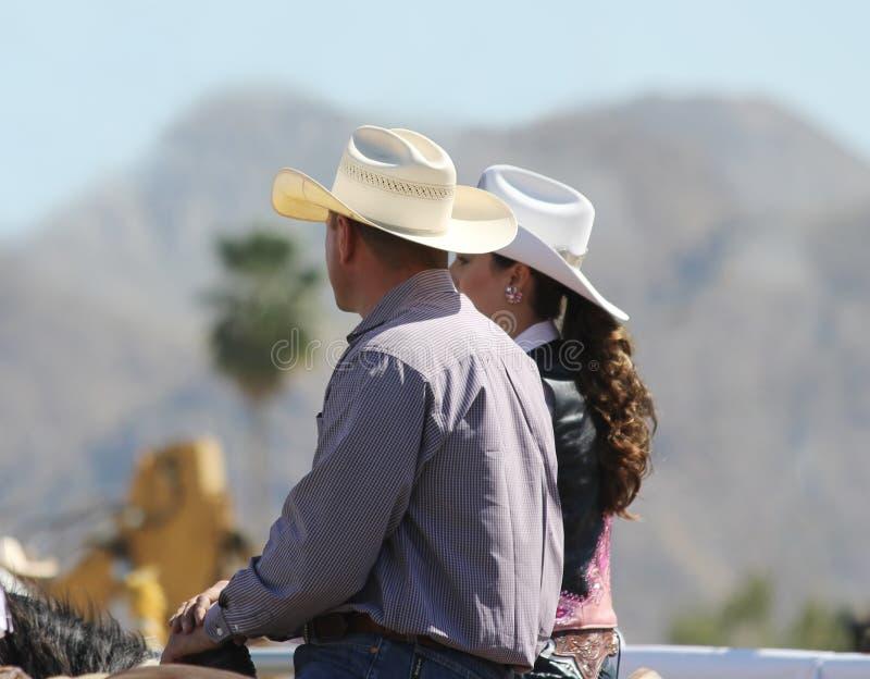 Cowboy e Cowgirl foto de stock royalty free