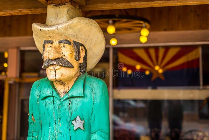 Cowboy en bois photographie stock