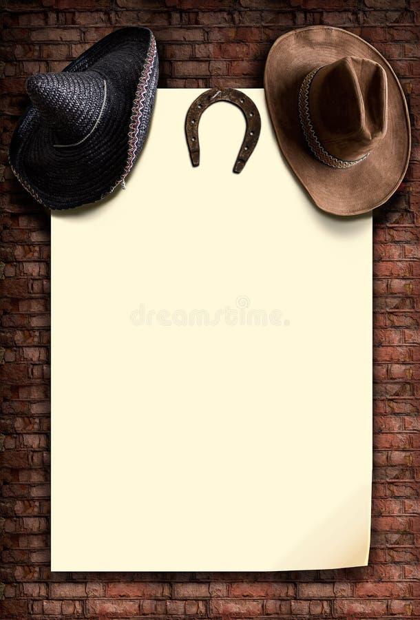 Cowboy et chapeaux mexicains photographie stock