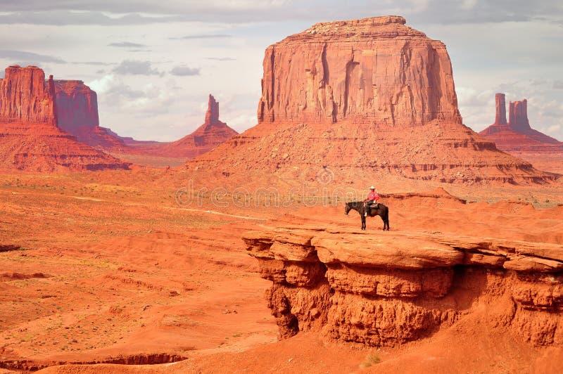 Cowboy för navajo för John vadställepunkt royaltyfri fotografi