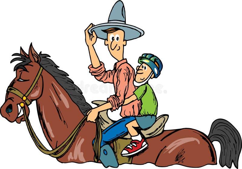 Cowboy-Fahrten lizenzfreie abbildung
