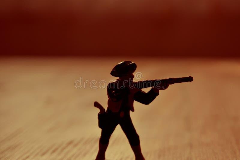 Cowboy-figur arkivbilder