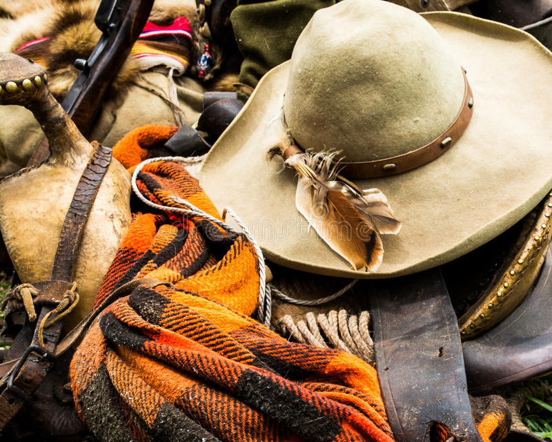 Cowboy Gear de vintage images libres de droits