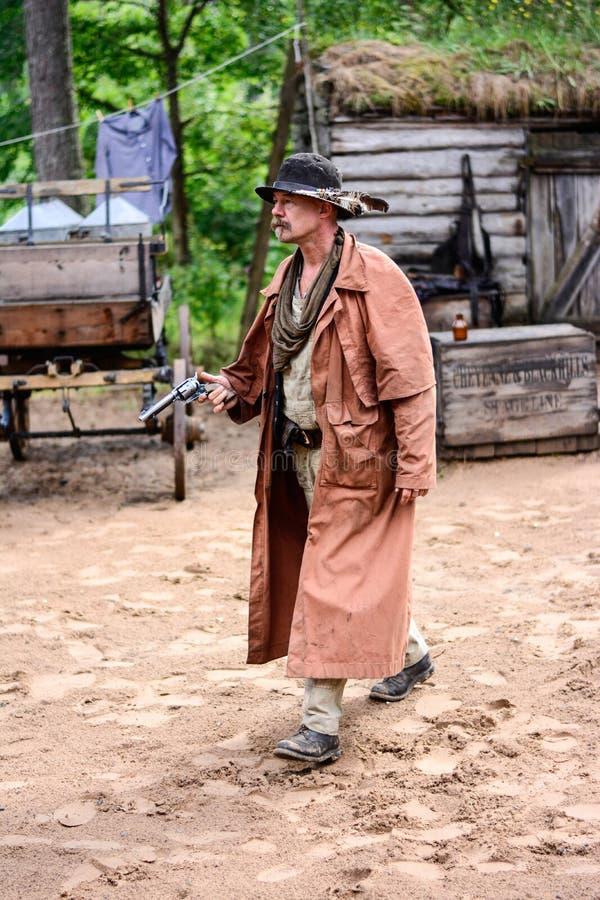 Cowboy Gunfighters stockbild