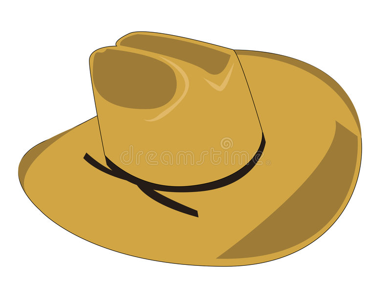 Download Cowboy hat stock vector. Image of shadow, country, illustration - 6082804