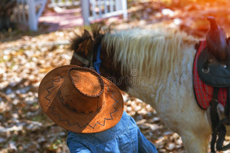 Cowboy hat, American cowboy traditional stock photos