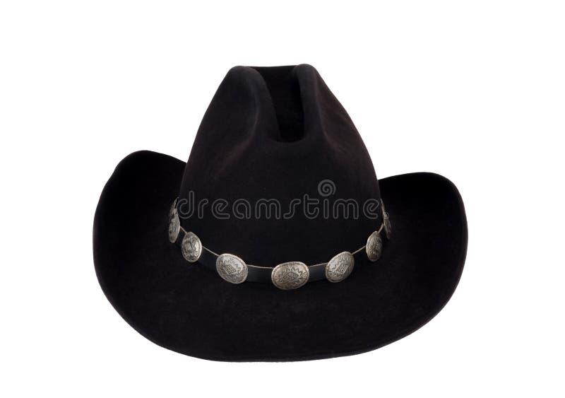 Cowboy Hat con il Hatband di Concho. fotografie stock