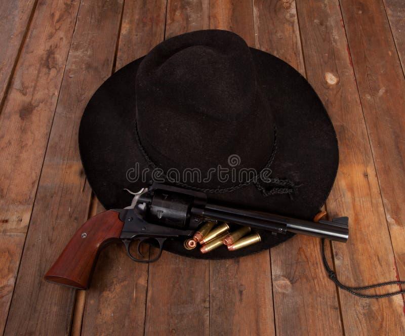 Cowboy Hat et pistolet images libres de droits