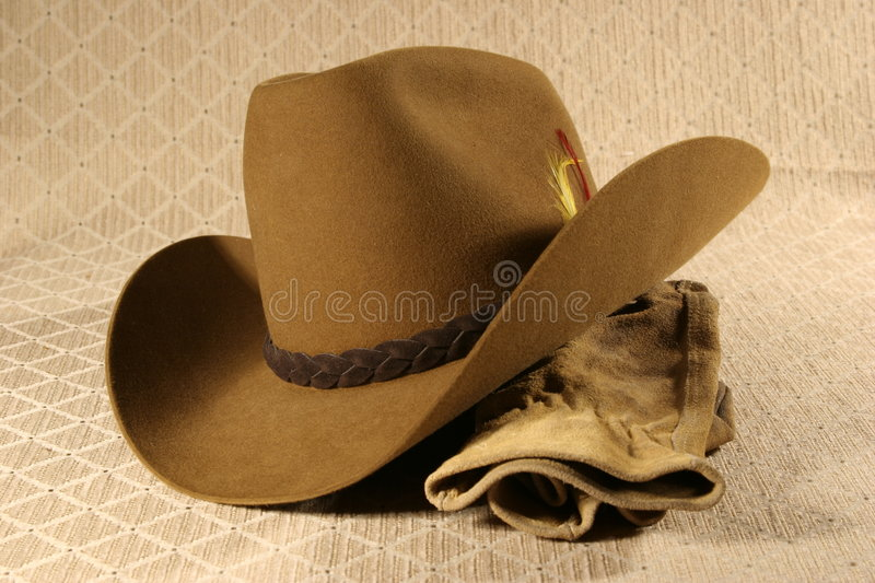 Cowboy Hat & Gloves 2 royalty free stock images