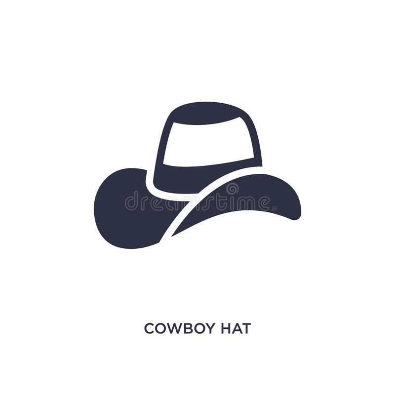 cowboy hat icon on white background. Simple element illustration from wild west concept royalty free illustration