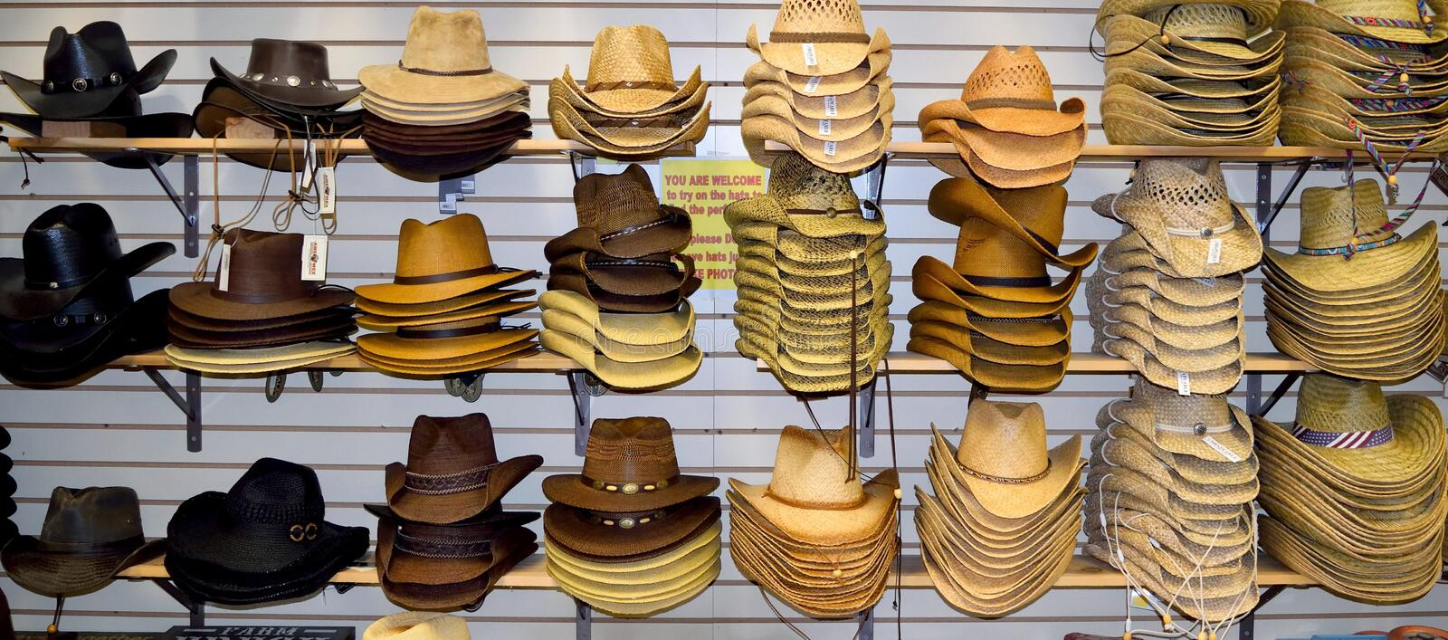 Cowboy Hats For Sale stockbild