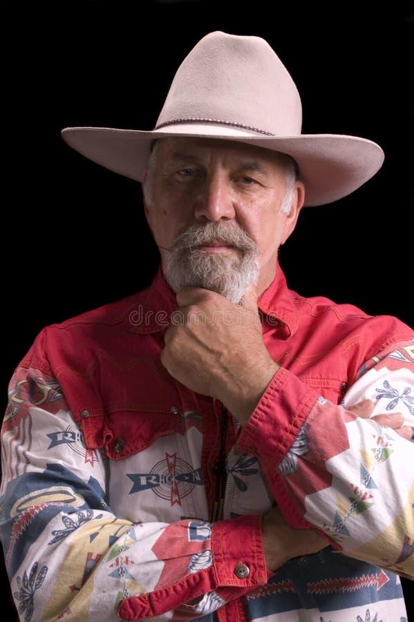 Cowboy idoso que olha como o búfalo Bill imagem de stock