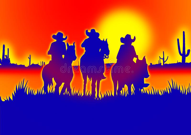 Cowboy illustration stock photo