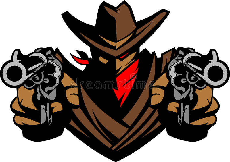 cowboy illustration logo mascot бесплатная иллюстрация