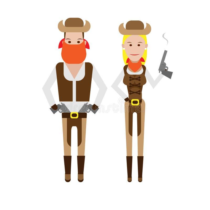 Download Cowboy stock vector. Image of cowboy, character, illustration - 33907553
