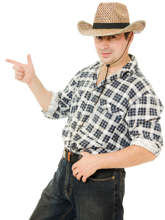 Download Cowboy Indicates The Direction. Stock Photography - Image: 21309782