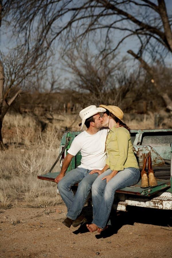 Cowboy Kiss stock images