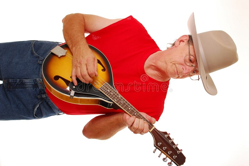 Download Cowboy with mandolin stock image. Image of gallon, looks - 871829