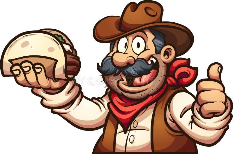 Cowboy messicano illustrazione vettoriale
