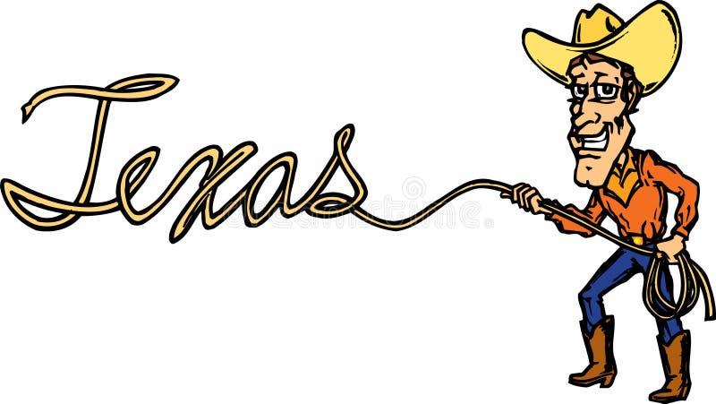 Cowboy met lasso vector illustratie