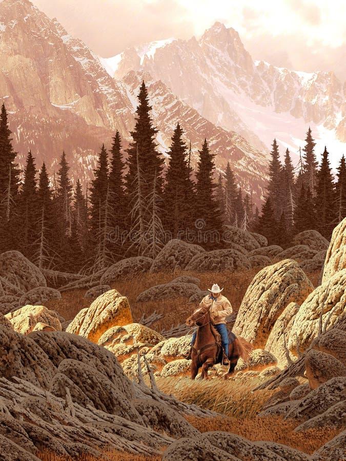 cowboy montana royaltyfria foton