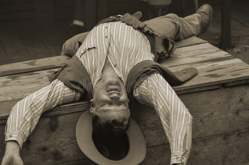 Cowboy mort photos stock
