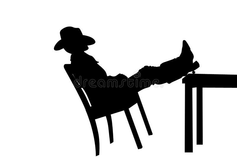 Cowboy no bar ilustração stock