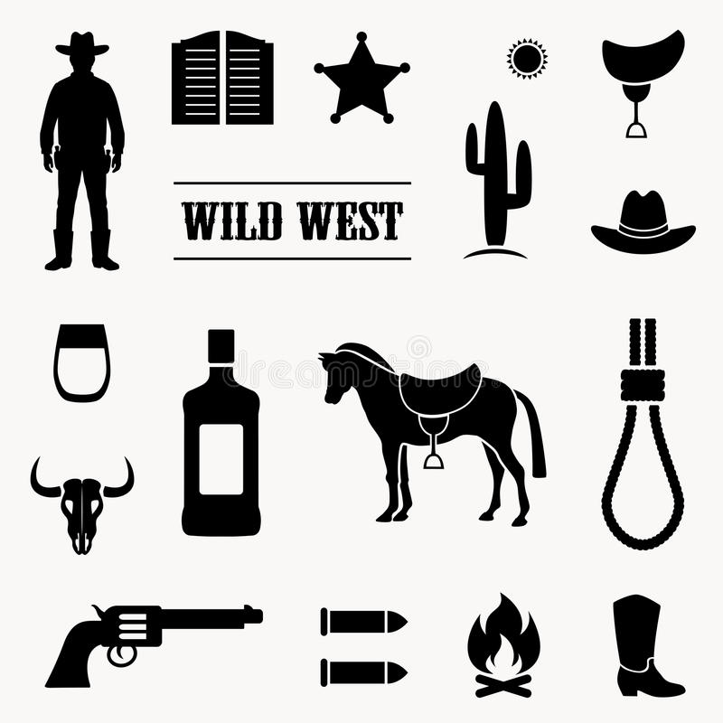 cowboy occidental illustration stock