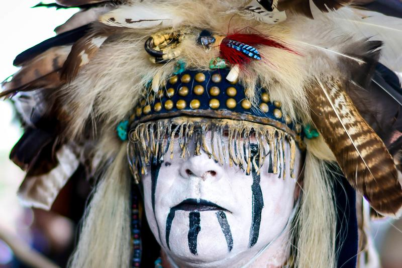 Cowboy- och indiershow i Sverige royaltyfri foto