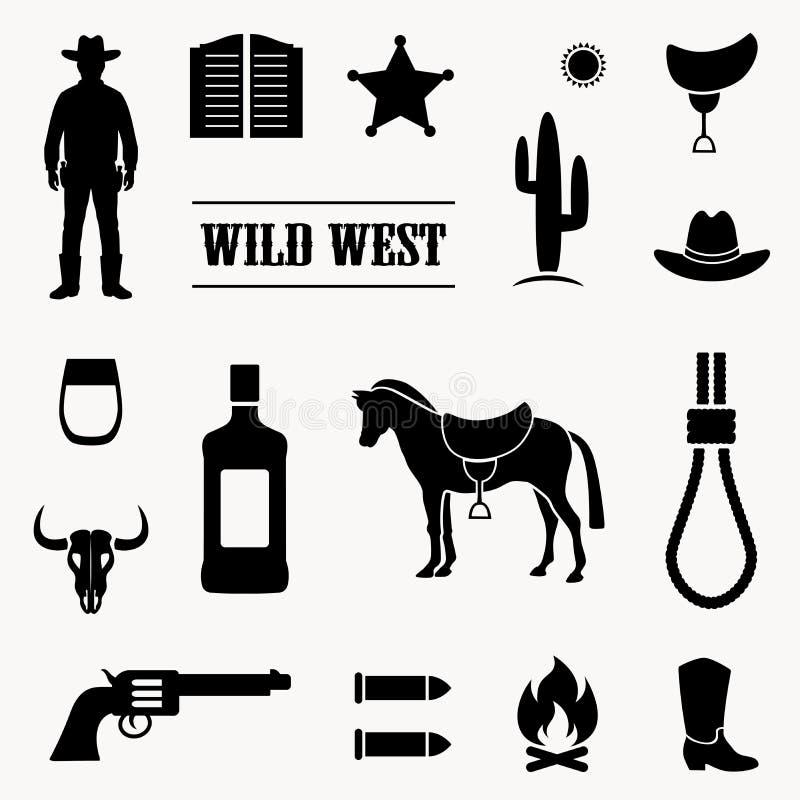 Cowboy ocidental ilustração stock