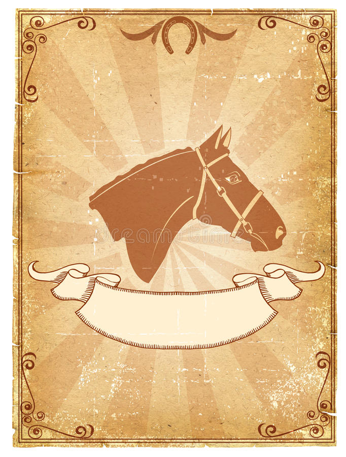 Free Cowboy Old Paper Background Stock Images - 19386014