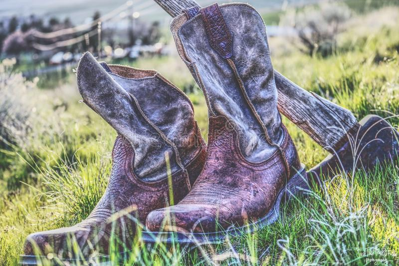 Cowboy oli del workin fotografia stock libera da diritti