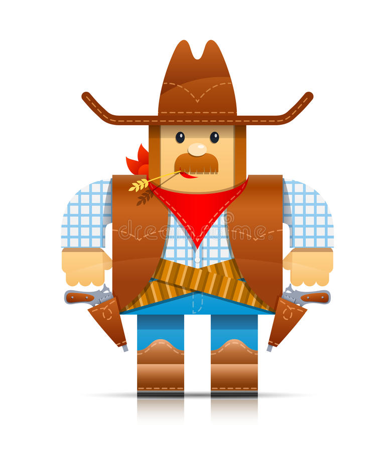 Download Cowboy origami toy stock vector. Illustration of gunman - 24667011