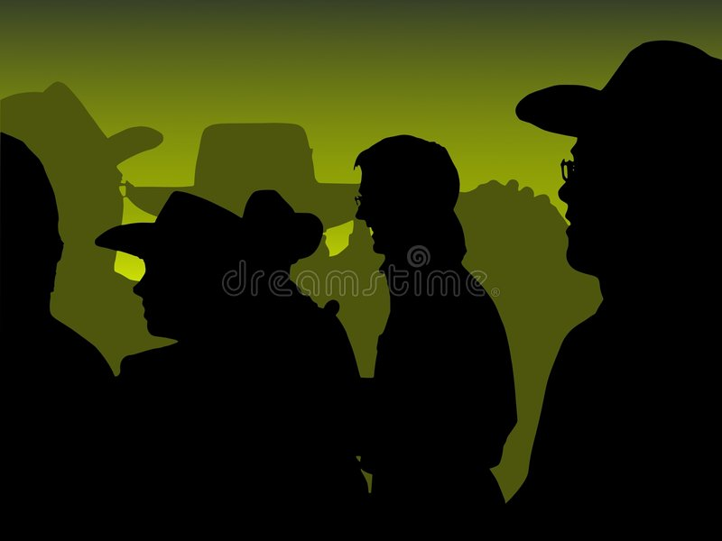 Cowboy Party: Green Stock Images