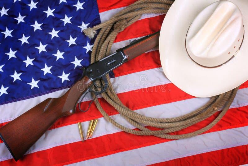 Cowboy patriote Background  images libres de droits