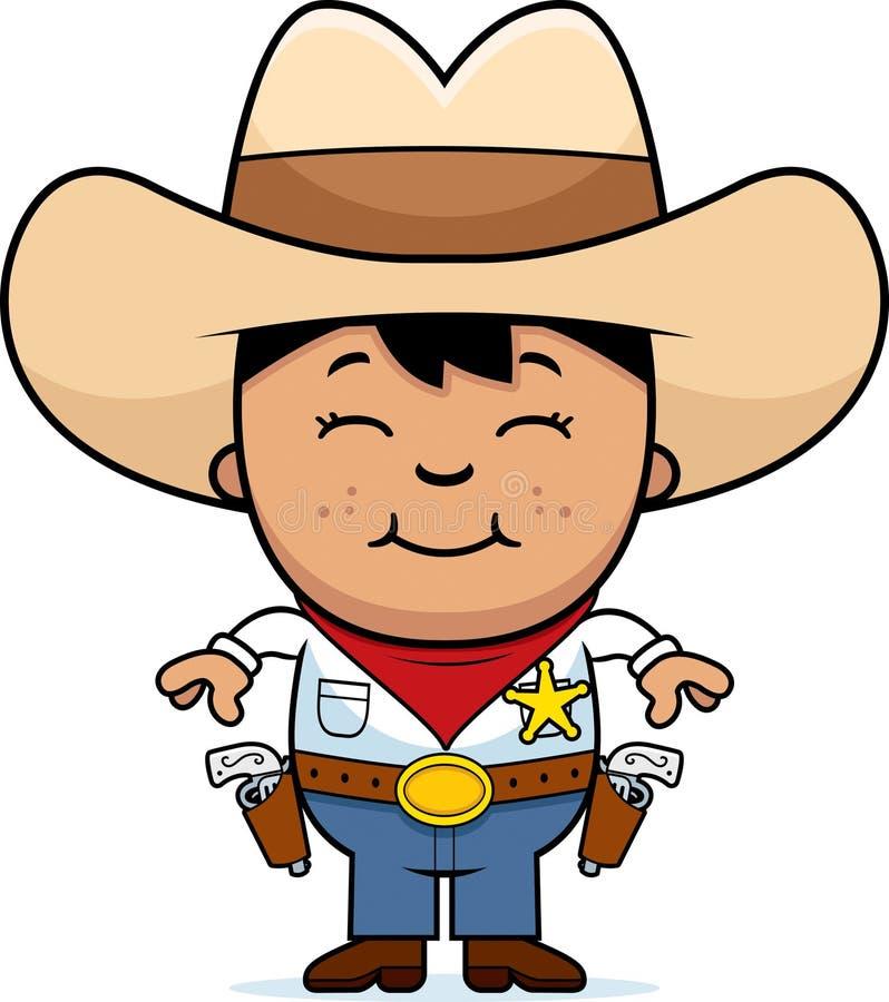 Cowboy pequeno de sorriso ilustração royalty free