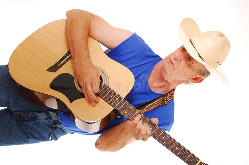 Cowboy Playing Guitar Stock Photos