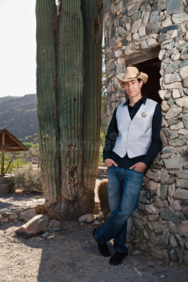 Cowboy-Polizeichef lizenzfreie stockfotos