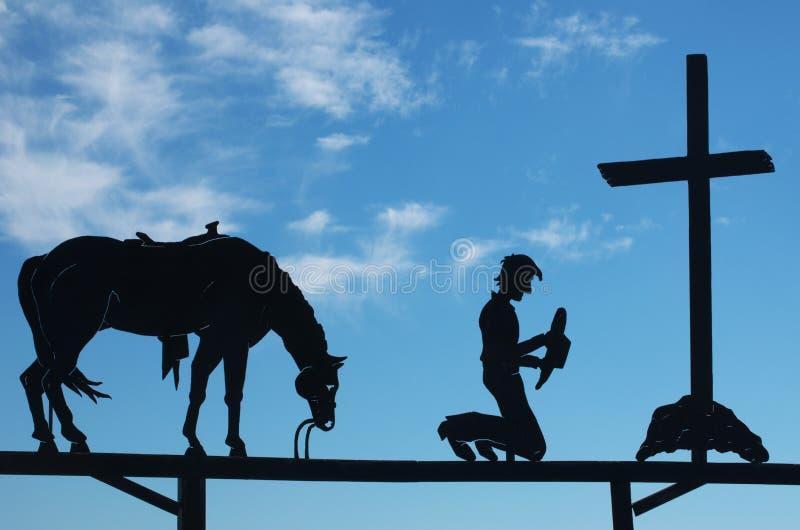 Download Cowboy  Praying Royalty Free Stock Photos - Image: 27321218